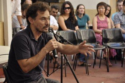 O ator Henrique Diaz em aula inaugural. Foto: Acervo