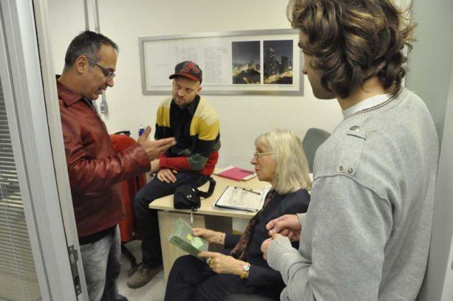 Visita Suzanne Osten e Gustav Deinoff