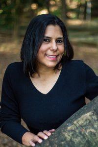 A editora de conteúdo Cíntia Duque, do @eunoteatro, uma dos 12 comunicadores da Mostra Aldir Blanc na SP Escola de Teatro - Foto: Edson Lopes Jr.